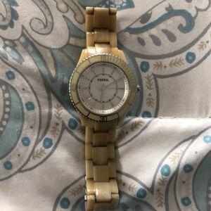 Oversized fossil women's watch
